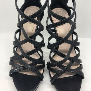Sexy Vince Camuto Black Strap High Heel Sandals